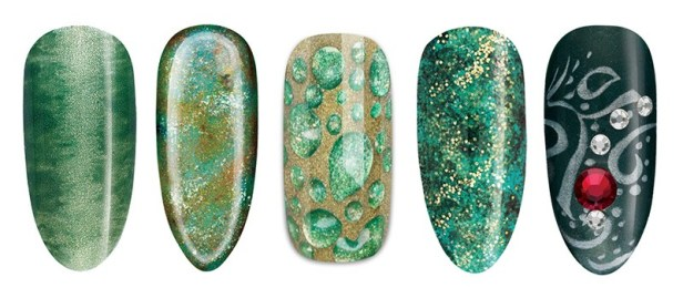 cnd-holidaynails-green